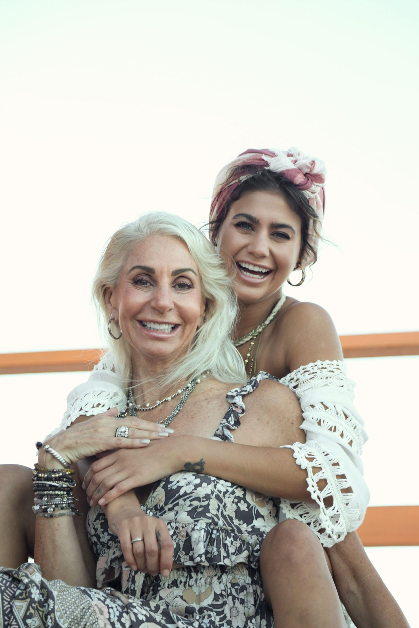 Mother daughter photoshoot in Miami Swim Week