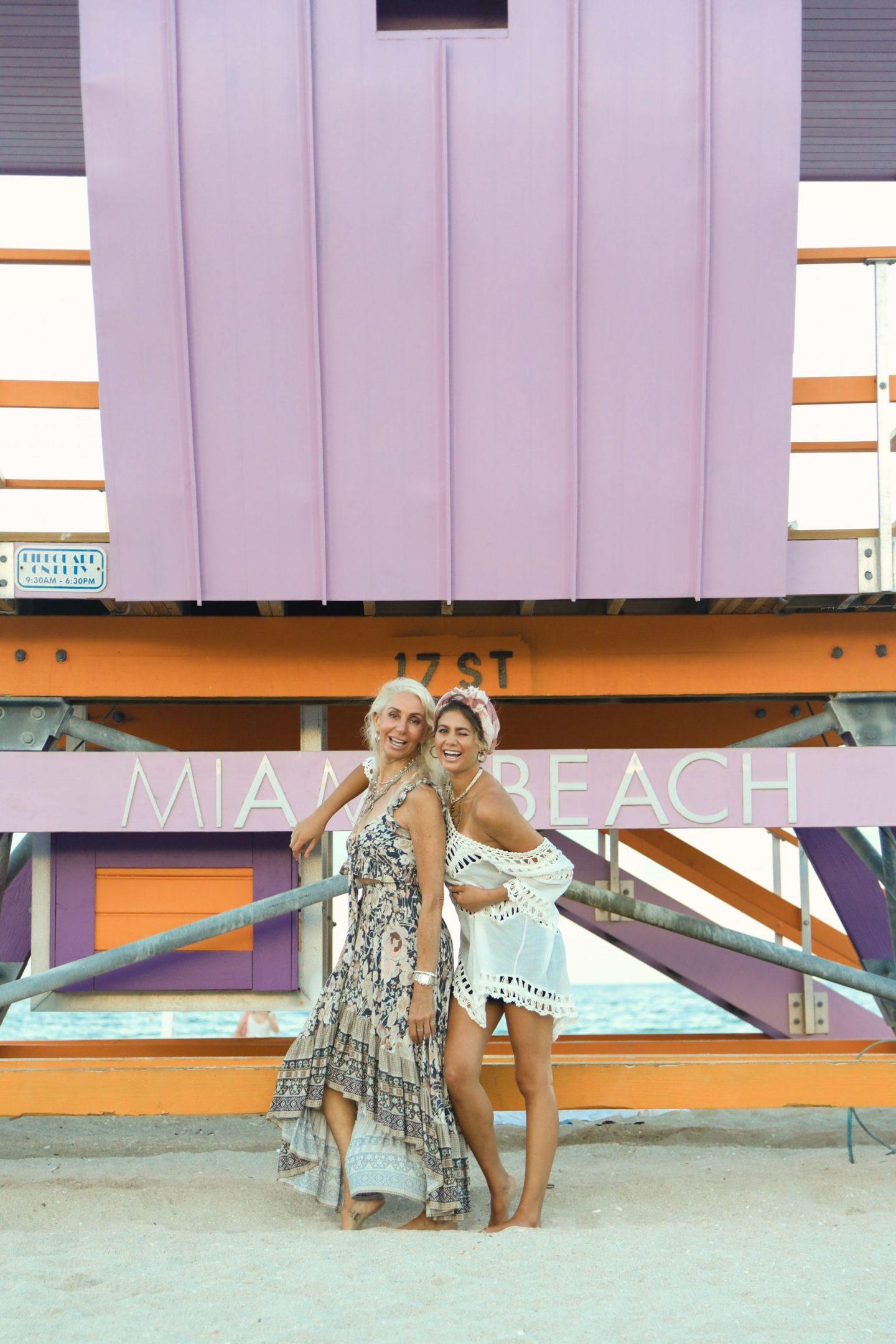 Mother daughter shoot in Miami Swim Week